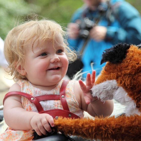 Fox Puppet with baby